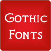 Gothic Fonts for FlipFont